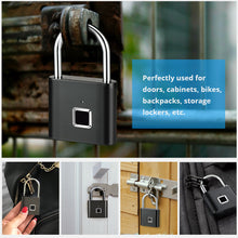 Load image into Gallery viewer, Fingerprint digital door lock-Rechargeable and USB supporter keyless