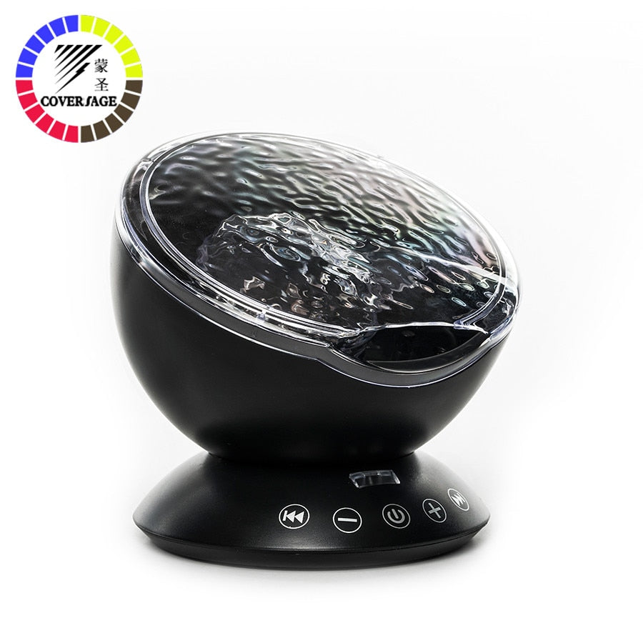 ocean wave projector night light With USB Remote Control TF Cards Music Player Speaker
