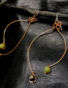 Copper dancing earrings