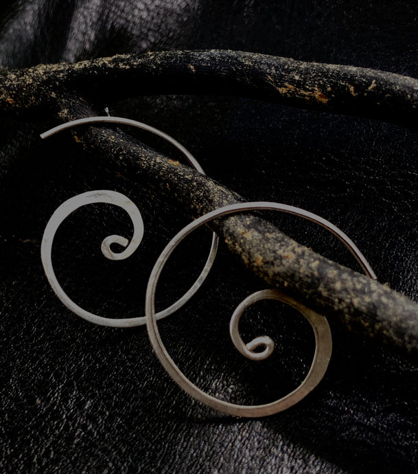 Fibonacci spiral earrings .925 silver