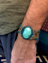 Load image into Gallery viewer, Turquoise unisex cuff