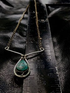 Dipping Chrysocolla necklace