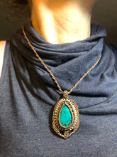 Load image into Gallery viewer, Chrysocolla with small macramé detail
