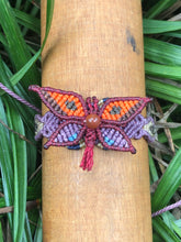 Load image into Gallery viewer, Butterfly macramé bracelet