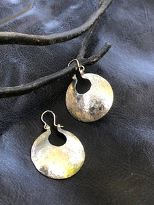 Hammered round Mapuche earrings