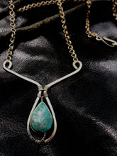 Load image into Gallery viewer, Dipping Chrysocolla necklace