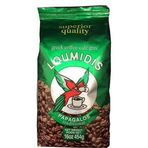 Loumidis Papagalos Greek Ground Coffee 454g (Loumidis)