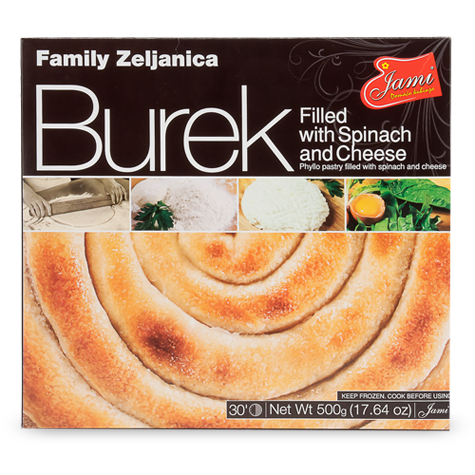 Family Burek SPINACH with CHEESE / Zeljanica 500g (Jami)