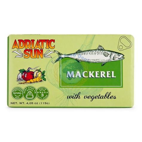 Mackerel With Vegetables Skusa sa Povrcem 115g (Adriatic Sun)
