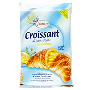 Dora3 Croissants Filled With Custard Cream  300g (Antonelli) (4433732010018)