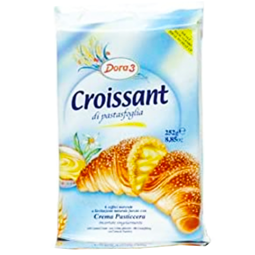 Dora3 Croissants Filled with Custard Cream 300g (Antonelli)