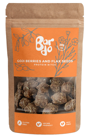 Bardo Goji Berries & FLEX SEEDS Energy Bites 100g (Bardo)