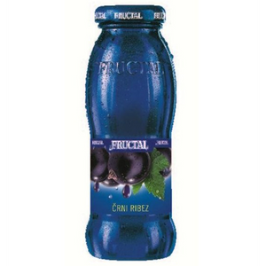 Blackcurrant Nectar Bottle  200ml (Fructal) (4433744199714)