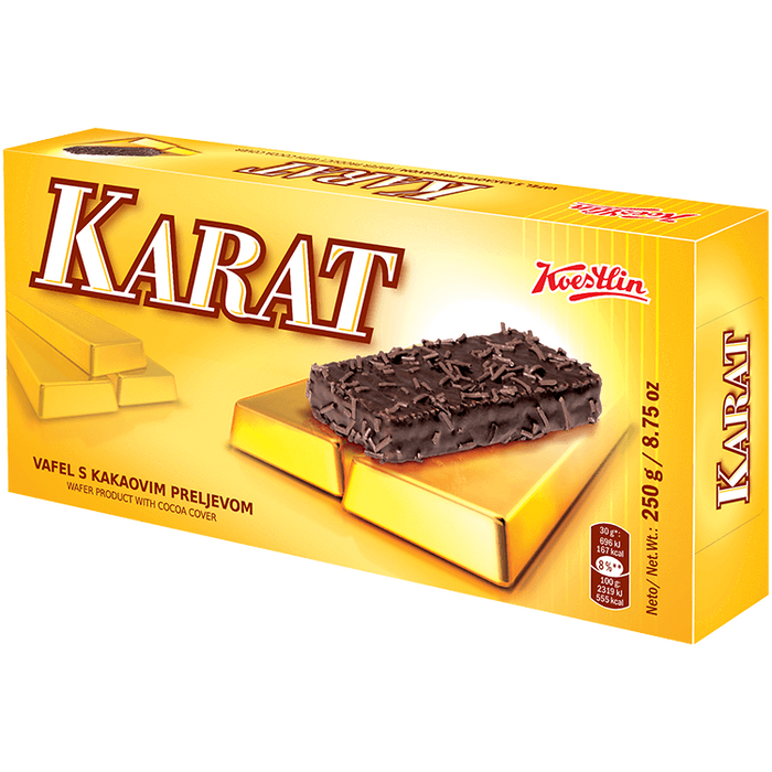 Karat Wafers with Cocoa Cover 250g (Koestlin)