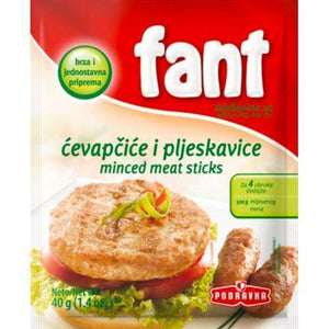 Fant Seasoning Mix For Minced Meat Cevapi  40g (Podravka) (4433754095650)