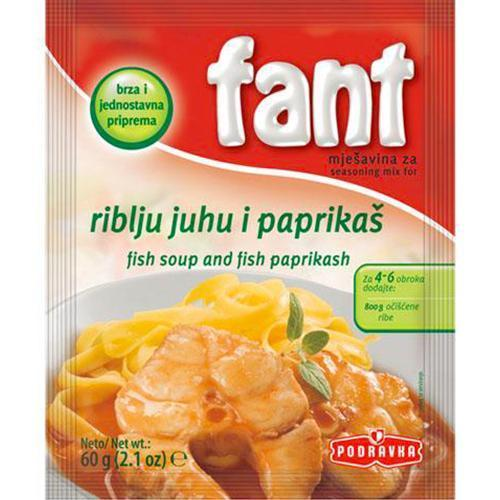 Fant Seasoning Mix For Fish Soup & Paprikas / Riblju supu i paprikas 60g (Podravka)