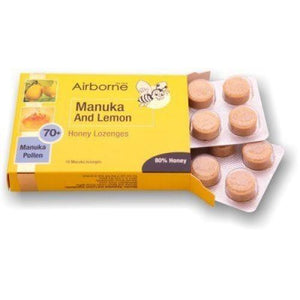 ABH Manuka & Lemon 16 lozenges  (Airbone Honey) (4433738104866)