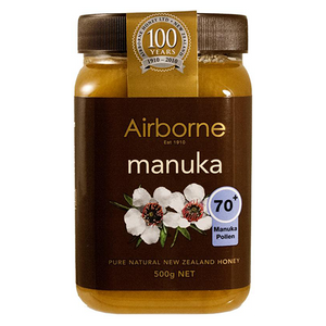 Airbone Honey MANUKA 70+ (AAH Active Health Honey)  500g (Airbone Honey) (4433738596386)