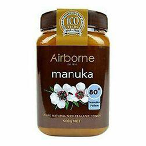 Airbone Honey MANUKA 80+ (AAH Active Health Honey)  500g (Airbone Honey) (4433738694690)