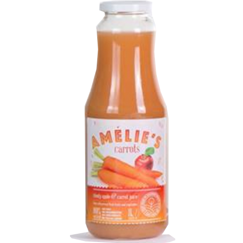 Fresh-Pressed Carrot Juice 1L (Amelie's)