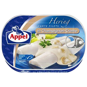 Herring in Champignon Creme  200g (Appel)