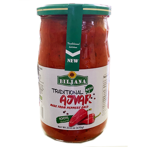 Traditional Ajvar MILD With Peppers Only / Blagi Od Paprika 670g (Biljana)