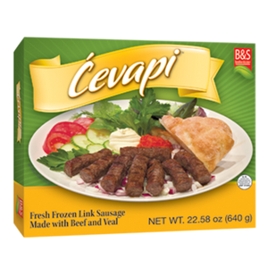 Frozen Meat Sausage / Cevapi 1.6lbs/726g (Brother And Sister)