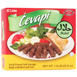 Cevapi HALAL / Frozen Meat Sausage Halal 1.6lbs/726g (Brother And Sister)