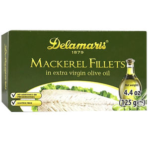 Delamaris Mackerel Fillet in Extra Virgin Olive Oil 125g (Delamaris)