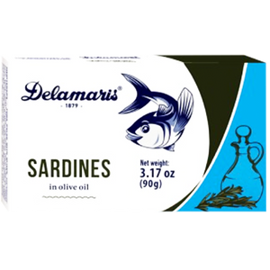 Delamaris Sardines in OLIVE Oil 90g (Delamaris)