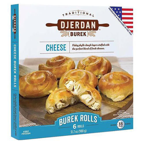 Burek with Cheese 6 Rolls 900g (Djerdan)