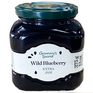 Granny's Secret WILD BLUEBERRY Jam / Dzem od DIVLJE BOROVNICE 375g (Granny's Secret)