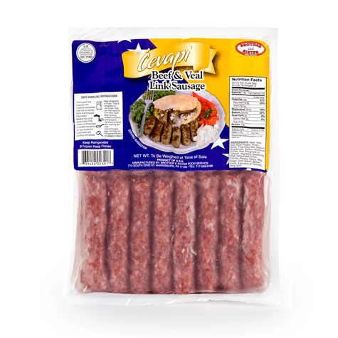 Cevapi / Frozen Meat Sausage / Vacuum Pack 2lbs/907g (Brother And Sister)
