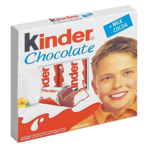 Kinder Chocolate Bars 100g (Ferrero)