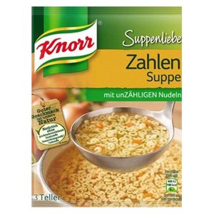 Noodle Numbers Soup Zahlen Suppe  84g (Knorr) (4433733615650)