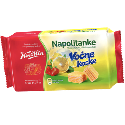 Fruit Wafers Vocne Kocke 500g (Koestlin)