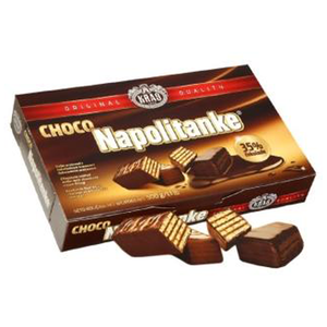 Napolitanke CHOCOLATE Wafers Cokoladne 250g (Kras)