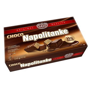 Napolitanke CHOCOLATE Wafers Cokoladne 500g (Kras)
