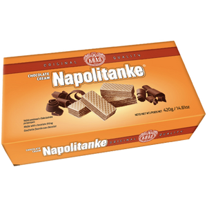 Napolitanke Blok Wafers CHOCOLATE CREAM  420g (Kras) (4433750425634)