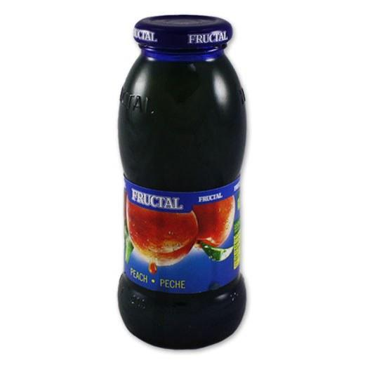 Peach Nectar Glass Bottle 200ml (Fructal)