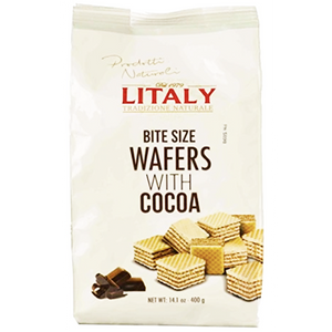 Litaly Cocoa Bite Size Wafers 400g (Litaly)