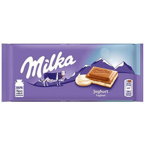 Milka Chocolate Bar w. Yogurt, Yogurt   100g (Milka) (4433753374754)
