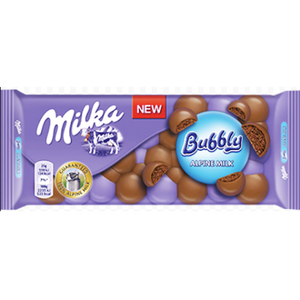 Milka Alpine Chocolate Bar with Bubbly 90g (Milka)