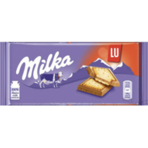 Milka LU Alpine Chocolate w. Butter Cookie Pieces  87g (Milka) (4433751834658)