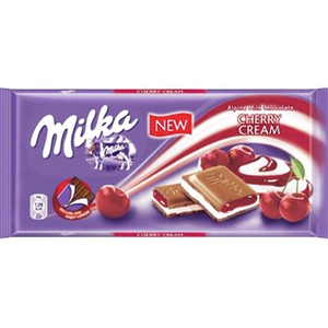 Milka CHERRY Cream Milk Chocolate Bar  100g (Milka) (4433752555554)