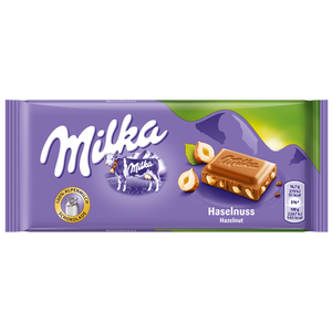 Milka with Hazelnuts / Haselnuss Chocolate 100g (Milka)