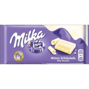 Milka WHITE Chocolate Bar  100g (Milka) (4433752883234)