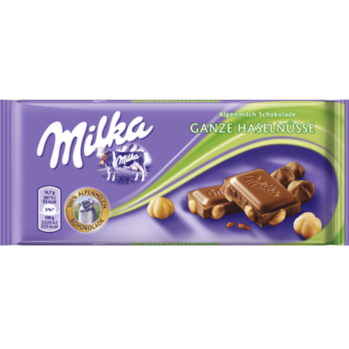 Milka Alpine Chocolate Bar with Whole Hazelnut 250g (Milka)