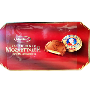 Mozartkugeln Mozarttaler Box of Coin Chocolates 200g (Mirabell)