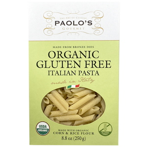 Paolos Penne Rigate Gluten Free Organic 250g (Paolo's)